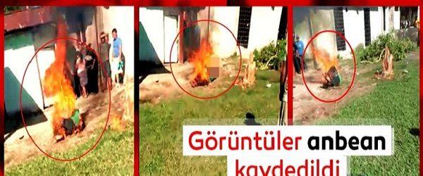 Küçük kızı tecavüp ettikten sonra öldüren şahıs diri diri yakıldı