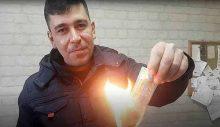 20 bin lira vuran biletini 'haram' diye yaktı!