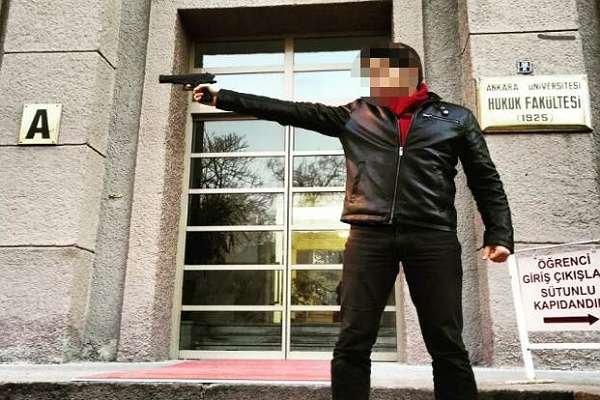 Öğrenciyken silah doğrulttuğu fakültede araştırma görevlisi yapıldı iddiası