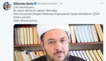 Nakşibendi şeyhinin ölümünün ardından Süleyman Soylu'dan hüzünlü paylaşım!