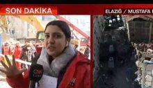 CNN TÜRK muhabiri Fulya Öztürk'ün canlı yayındaki zor anları