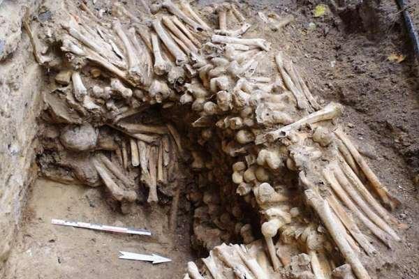 Belçika'daki katedralin altında insan kemiği ve kafatasından yapılmış duvarlar çıktı