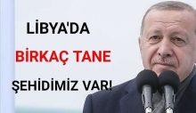 """Erdoğan: """"Libya'da 'birkaç tane' şehidimiz var"""""""