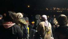 Öğrenciler, umreciler için karantina alanına çevrilen yurttan gece yarısı çıkarıldılar