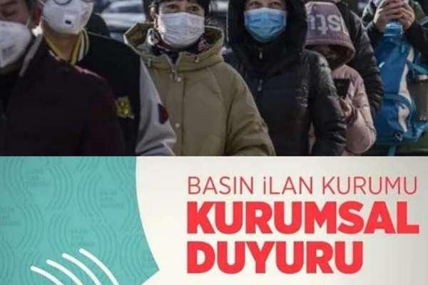 Basın İlan Kurumu'ndan basına 'Koronavirüs uyarısı': İşlem başlatacağız