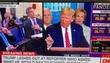 Muhabirin şaşkın anları: Korona testini sordu, Trump'tan hakaret yedi