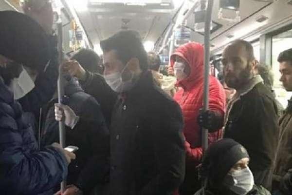 Kötülüğün kitabını yazdılar! Otobüsteki kalabalık trol çıktı
