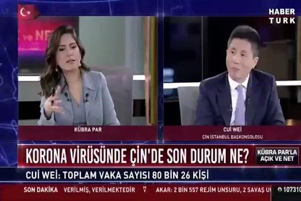 Habertürk spikeri 'rakam' deyince Çin Başkonsolosu uyardı: Bunlar rakam değil, candır