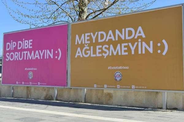 Tokat Erbaa Belediyesi'nin yerel dille yaptığı 'evde kal' çağrısı gülümsetti: Gıldır gıcıh işler için sokağa çıkman