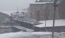 Mayıs'ın sonunda Uludağ'a kar geldi