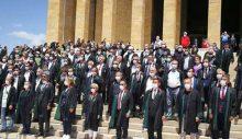 Baro başkanları Anıtkabir'de
