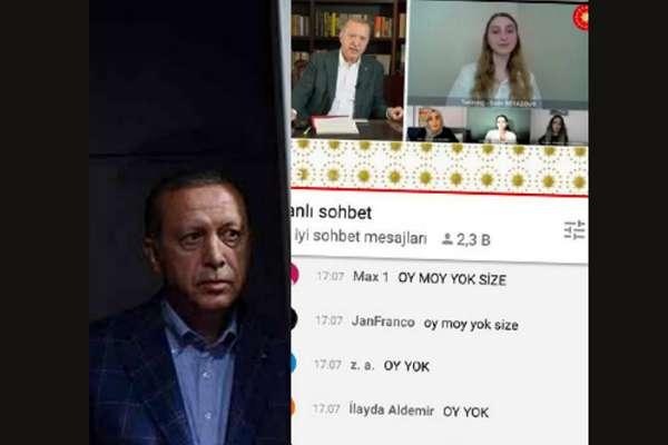 """Erdoğan'ı pişman eden yayın: Dislike ve """"oy moy yok"""" mesajı yağdı!"""