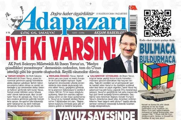 AKP'li Ali İhsan Yavuz'u 'İyi ki varsın' diyerek hicveden gazete yöneticileri ifadeye çağrıldı!