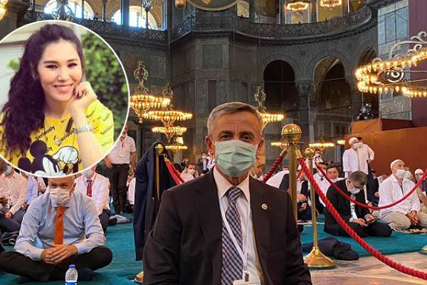 """Kıldığınız namaz unutturmaz! AKP'li Şirin'in Ayasofya paylaşımına """"Nadira"""" damga vurdu!"""