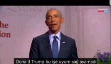 Obama Trump'ı açık açık eleştirdi: 'Başkanlığa bir TV şovu muamelesi yaptı'