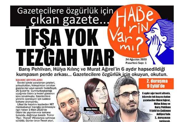 Bu gazete, tutuklu gazeteciler için çıktı: Gazetecilere düzenlenen 'tezgahı' herkes okusun