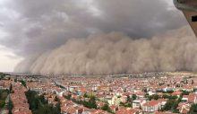 Ankara'daki kum fırtınası korkuttu: Mansur Yavaş uyardı