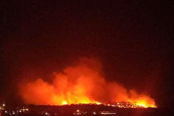 Ayvalık Şeytan Sofrası'nda orman yangını