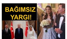 'Bağımsız yargı' Saray'da: 'Helikopterli lüks tatil' haberi soğumadan nikah kıyıp Saray'a koştu