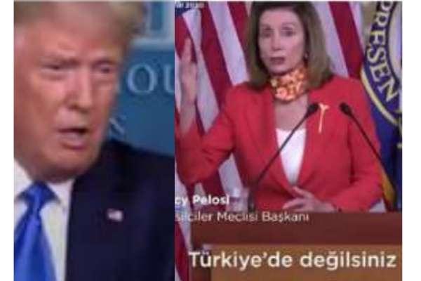 """Nancy Pelosi'den Trump'a tepki: """"Türkiye'de değilsiniz. ABD'desiniz ve burası bir demokrasi"""""""
