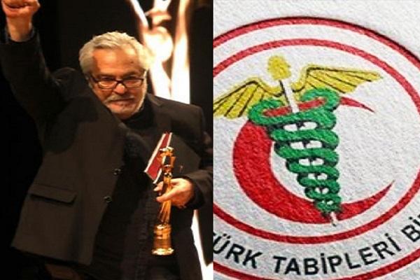 Rutkay Aziz, 'Yaşam Boyu Onur Ödülü'nü TTB'ye hediye etti