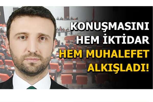 AKP'li vekil konuşmasıyla CHP'den de HDP'den de alkış aldı