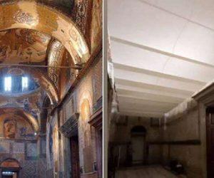 Kariye Müzesindeki freskler böyle kapatıldı