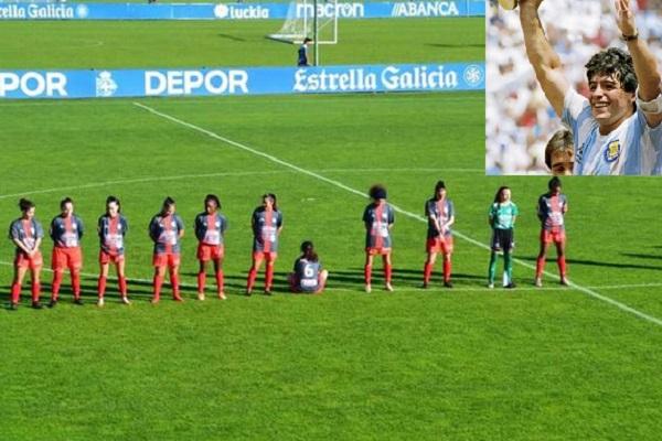 Kadın futbolcudan Maradona protestosu: Bir tecavüzcü için saygı duruşunu reddediyorum