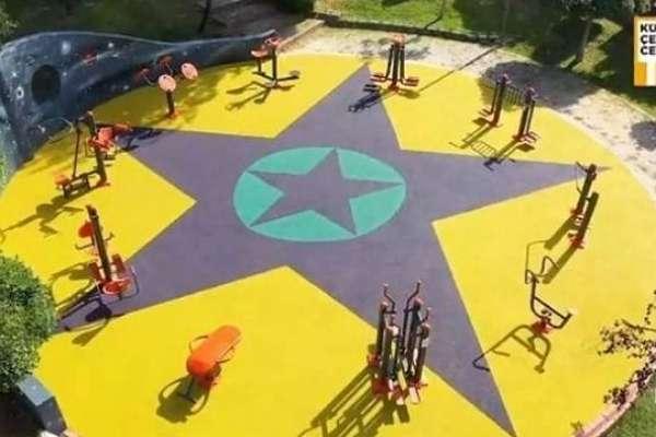 Çocuk parkındaki sembol nedeniyle Küçükçekmece Belediyesi'nden iki üst düzey isim görevden alındı