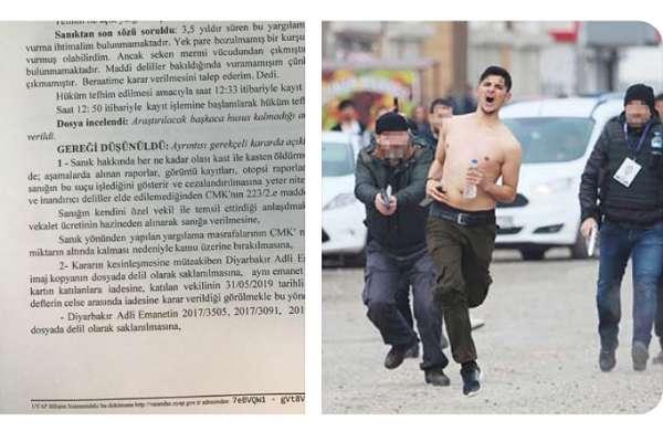 Kemal Kurkut'u vuran polis, delil yetersizliğinden beraat etti