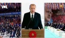 Erdoğan alkış gelmeyince sitem etti: Eskiden salonlar inlerdi