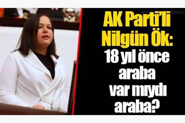 AKP'li Nilgün Ök: 18 yıl önce araba var mıydı araba?