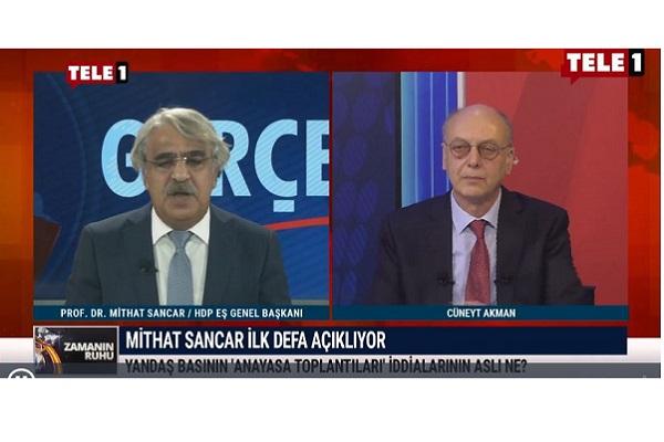"""Sancar: AKP kendi iktidarını korumak için """"çözüm süreci"""" diye bir fısıltı yayıyor. Bu kez Meclis'in olmadığı bir süreç olmaz"""