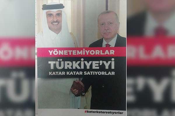 """CHP broşür dağıttı: """"Yönetemiyorlar, Katar Katar satıyorlar!"""""""