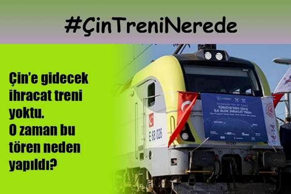 Çin'e uğurlanan 'ilk ihracat treni', Maltepe istasyonundan Halkalı Garı'na dönmüş!