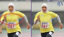 İran, atlet Maryam Tusi'nin meme hatlarını sansürledi!