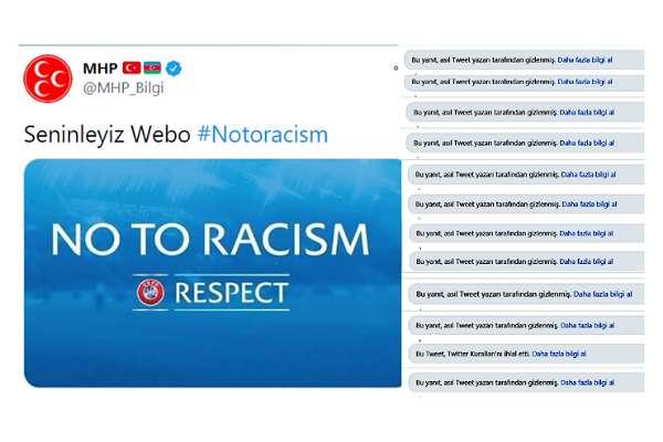 MHP 'Irkçılığa hayır' paylaşımına gelen yorumları gizledi!