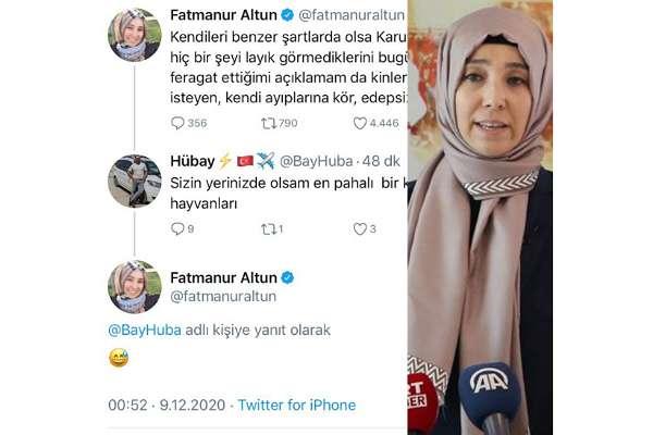 """Fatmanur Altun, """"Kürk giyin, kudurt şu hayvanları"""" mesajına verdiği cevabı sildi"""
