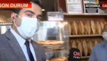 CNN Türk muhabiri, fırıncı pahalılıktan yakınınca yayını bitirdi