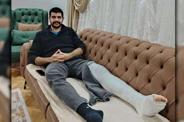 Ankara'da gözaltına alınan öğrenci Erbudak: Polis dizleriyle basarak ayağımı kırdı