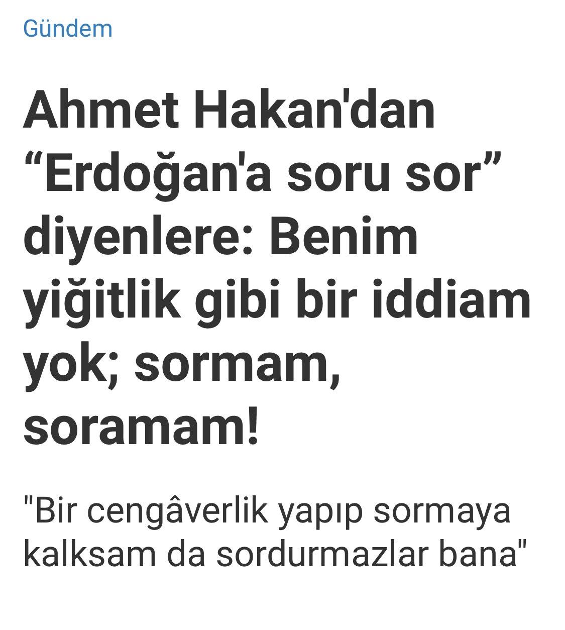 Ahmet Hakan'ın daha önce yaptığı açıklama