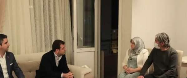 İmamoğlu'ndan HDP'li Hüda Kaya'ya taziye ziyareti