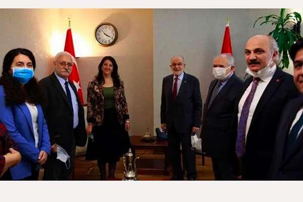 """""""HDP'nin siyaset turuna TBMM Başkanı Şentop ve Saadet Partisi ile başlaması tesadüf değil"""""""