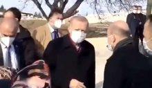 Erdoğan kendisine 'Açım' diyen yaşlı kadını duymazdan geldi
