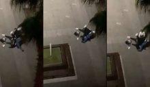 Sosyal medyayı ayağa kaldıran görüntüler: Baygın kadını çocuğunun önünde vahşice dövdü