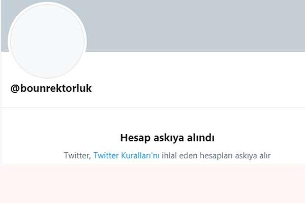 Melih Bulu'nun kullandığı Boğaziçi Üniversitesi Rektörlüğü'nün Twitter hesabı askıya alındı