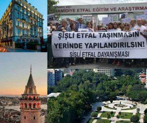 Yağma, talan, rant hız kesmiyor: Gezi Parkı, Galata Kulesi, Selimiye Kışlası, Pera Palas, Şişli Etfal Hastanesi gibi birçok tarihi yapı vakıflara devredildi