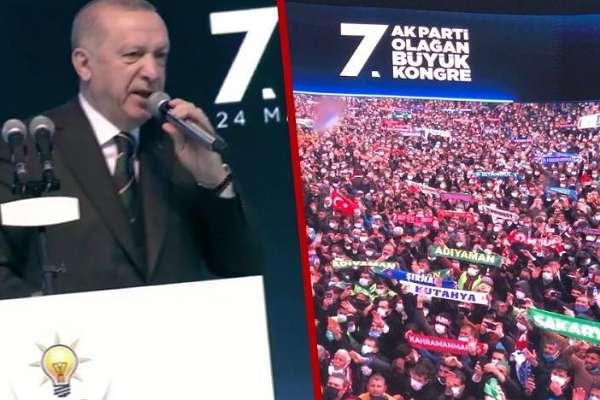 Erdoğan'dan lebaleb kongrede 'kaynaklarınızı getirin' çağrısı!