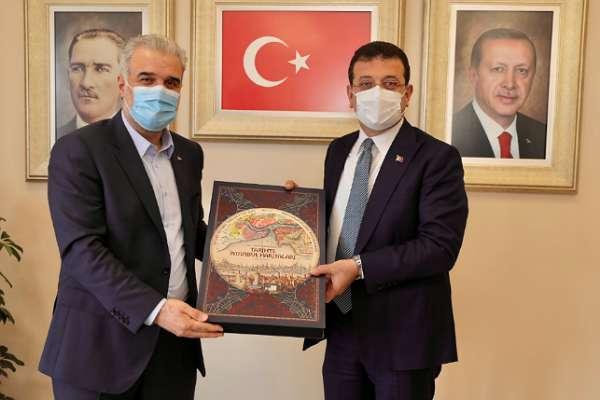 """İmamoğlu, AKP İstanbul İl Başkanını ziyaret edip """"başarı"""" diledi!"""