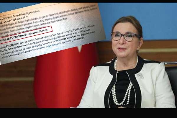 Ruhsar Pekcan, 'Emine Erdoğan'ın yakınıyım diyerek vergisiz ithalat yapacak' diye uyaran bakanlığa atanmış!